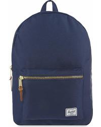 Темно-синий рюкзак из плотной ткани
