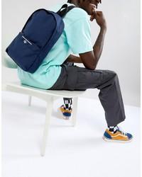 Мужской темно-синий рюкзак из плотной ткани от ASOS DESIGN
