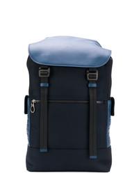 Мужской темно-синий рюкзак из плотной ткани от Bottega Veneta