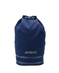 Мужской темно-синий рюкзак из плотной ткани от Jacquemus