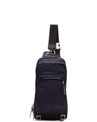 Мужской темно-синий рюкзак из плотной ткани от Master-piece Co