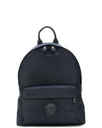 Мужской темно-синий рюкзак из плотной ткани от Versace