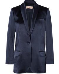Женский темно-синий сатиновый пиджак от Tory Burch