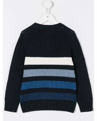 Детский темно-синий свитер в горизонтальную полоску для мальчиков от Ralph Lauren