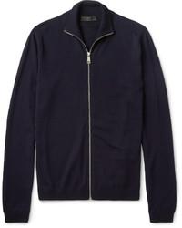 Темно-синий свитер на молнии