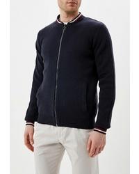 Мужской темно-синий свитер на молнии от Celio