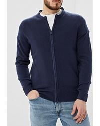 Мужской темно-синий свитер на молнии от Hopenlife