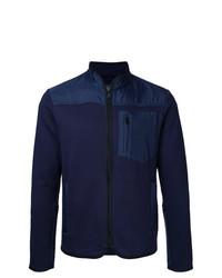 Мужской темно-синий свитер на молнии от Kent & Curwen