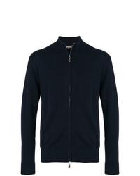 Мужской темно-синий свитер на молнии от N.Peal
