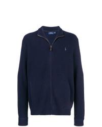 Мужской темно-синий свитер на молнии от Polo Ralph Lauren