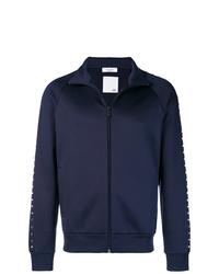 Мужской темно-синий свитер на молнии от Valentino
