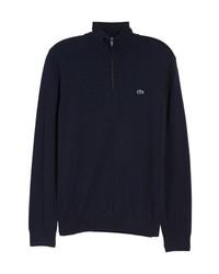 Темно-синий свитер с воротником на молнии