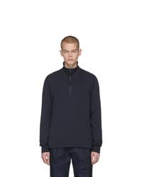 Мужской темно-синий свитер с воротником на молнии от Barena