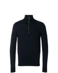 Мужской темно-синий свитер с воротником на молнии от Burberry