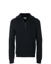 Мужской темно-синий свитер с воротником на молнии от Lanvin