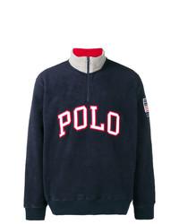Мужской темно-синий свитер с воротником на молнии от Polo Ralph Lauren