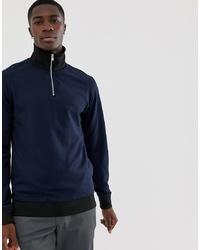 Мужской темно-синий свитер с воротником на молнии от Selected Homme