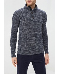 Темно-синий свитер с воротником на пуговицах от Van Hipster