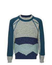 Мужской темно-синий свитер с круглым вырезом с принтом от Craig Green