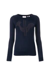 Женский темно-синий свитер с круглым вырезом с принтом от Rossignol