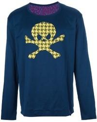 Мужской темно-синий свитер с круглым вырезом с принтом от Vivienne Westwood