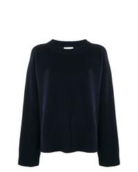Женский темно-синий свитер с круглым вырезом от 6397