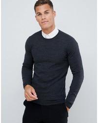 Мужской темно-синий свитер с круглым вырезом от ASOS DESIGN