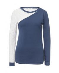 Женский темно-синий свитер с круглым вырезом от Aurora Firenze