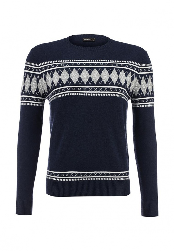 Мужской темно-синий свитер с круглым вырезом от Baon