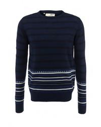 Мужской темно-синий свитер с круглым вырезом от Brave Soul