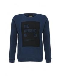 Мужской темно-синий свитер с круглым вырезом от Broadway