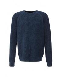 Мужской темно-синий свитер с круглым вырезом от Burton Menswear London