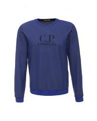 Мужской темно-синий свитер с круглым вырезом от C.P. Company