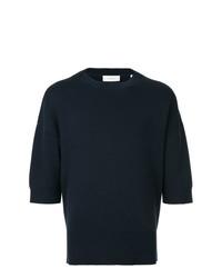 Мужской темно-синий свитер с круглым вырезом от Cerruti 1881