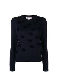 Женский темно-синий свитер с круглым вырезом от Comme Des Garçons Girl
