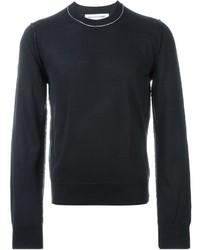 Мужской темно-синий свитер с круглым вырезом от Comme des Garcons