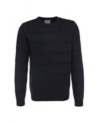 Мужской темно-синий свитер с круглым вырезом от D-struct