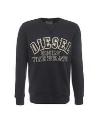 Мужской темно-синий свитер с круглым вырезом от Diesel