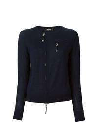 Женский темно-синий свитер с круглым вырезом от Dsquared2