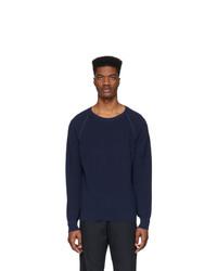 Мужской темно-синий свитер с круглым вырезом от Eidos