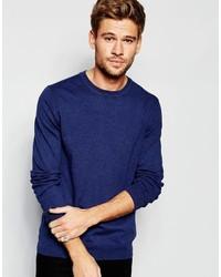 Мужской темно-синий свитер с круглым вырезом от Esprit