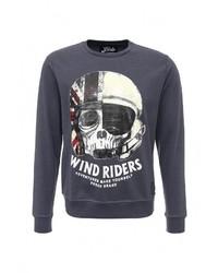 Мужской темно-синий свитер с круглым вырезом от Fresh Brand