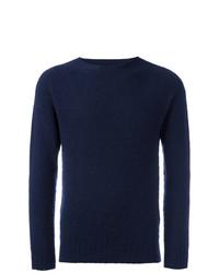 Мужской темно-синий свитер с круглым вырезом от Howlin'