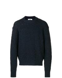 Мужской темно-синий свитер с круглым вырезом от Jil Sander