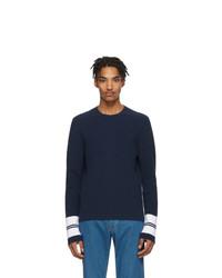 Мужской темно-синий свитер с круглым вырезом от Lanvin