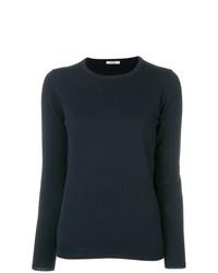 Женский темно-синий свитер с круглым вырезом от Liska