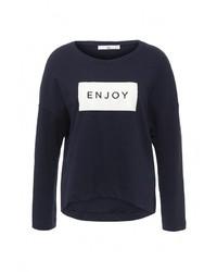 Женский темно-синий свитер с круглым вырезом от Love & Money