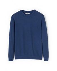 Мужской темно-синий свитер с круглым вырезом от Mango Man