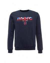 Мужской темно-синий свитер с круглым вырезом от Merc