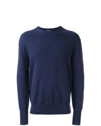 Мужской темно-синий свитер с круглым вырезом от N.Peal